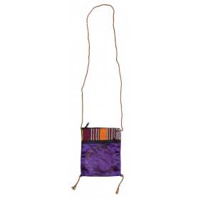 "Umhängetasche ""Mandala violett"" Baumwolle Brokat 15x22ccm"