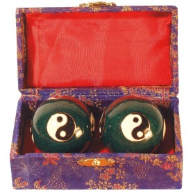 Qi Gong Kugel Yin Yang blau 40mm