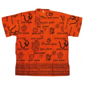 "Kurta ""Hare Rama"" Baumwolle orange"