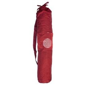"""Yogatasche """"Blume des Lebens"""" Baumwolle maroon 20x80cm"""