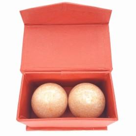 Qi Gong Kugel Marmor orange 40mm