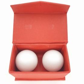 Qi Gong Kugel Marmor weiß 40mm