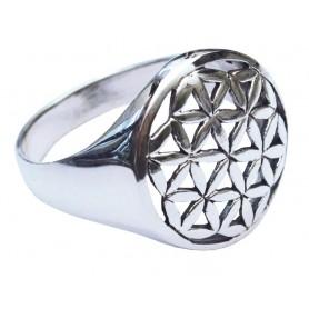 """Ring """"Blume des Lebens"""" gross 2cm Silber 925 4"""