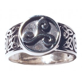 "Ring ""Keltische Triskele"" Silber 925 5"