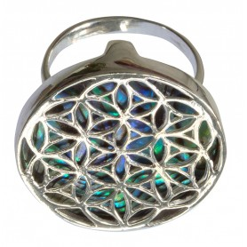 """Ring """"Paua Blume des Lebens"""" Silber 925 2"""