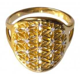 """Ring """"Blume des Lebens"""" Silber 925 vergoldet 2"""