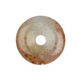Donut Versteinerte Koralle, 40mm