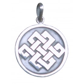 """Anhänger """"Buddh. Endlosknoten"""" 2cm Silber 925 3"""