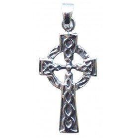 """Anhänger """"Keltisches Kreuz mit Sonnenrad"""" Silber 925"""