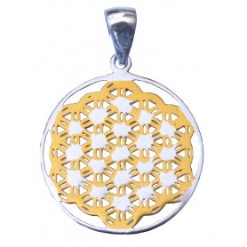 "Anhänger ""Blume des Lebens"" Silber 925 vergoldet"