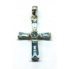 """Anhänger """"Kreuz mit 5 Zirkonia"""" Silber 925 2"""