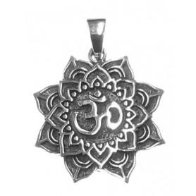 """Anhänger """"Om im Lotus"""" 3cm Silber 925 7"""