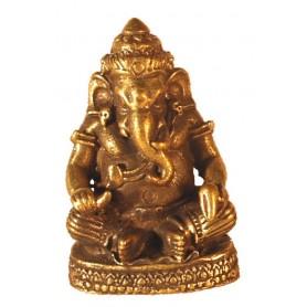 Ganesha sitzend Messing 2