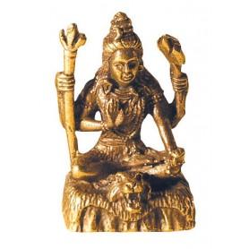 Shiva sitzend Messing 3cm