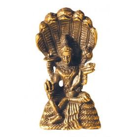 Vishnu sitzend Messing 3cm