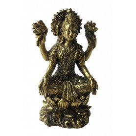 """Lakshmi auf Lotus"" Messing 5cm"