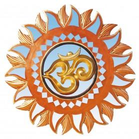 "Spiegel Ornament ""Om"" antik/gold 40cm"