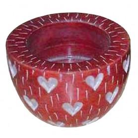 Teelicht Speckstein rot 6cm