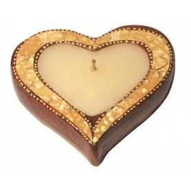 """Teelichthalter """"Herz"""" Terracotta braun 10cm"""