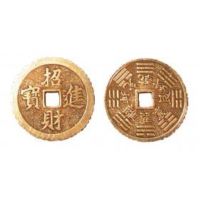 Chines. Münze einzeln Messing verzinnt 38mm