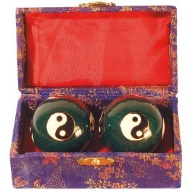 Qi Gong Kugel Yin Yang blau 35mm