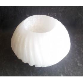 Selenit Teelicht Spirale 6x8cm
