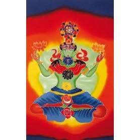 "Sarong ""Chakra Buddha"" Rayon 180x120cm-NEUES MODELL-"
