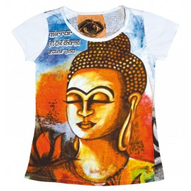 """Damen T-Shirt """"Buddha"""" 100% Baumwolle Größe M"""