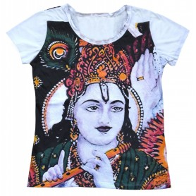 """Damen T-Shirt """"Krishna"""" 100% Baumwolle Größe M"""