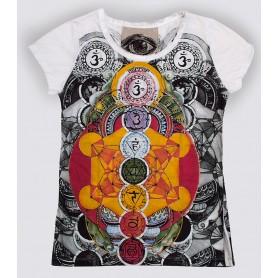 "Damen T-Shirt ""Chakra Metatron"" 100% Baumwolle Größe M"