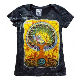 """Damen T-Shirt """"Baum des Lebens"""" 100% Baumwolle schwarz Größe M"""