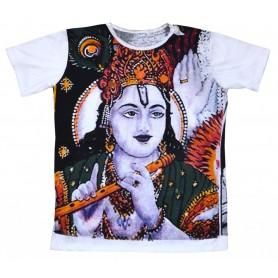 """Herren T-Shirt """"Krishna"""" 100% Baumwolle Größe L"""