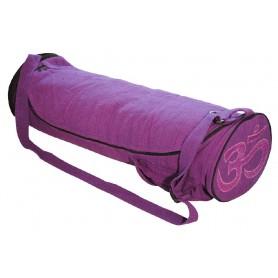 """Yoga Tasche """"Om"""" Baumwolle lila"""