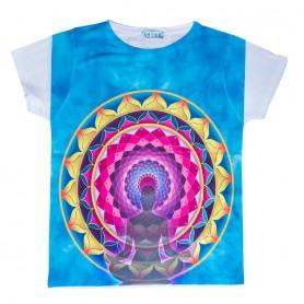 """Damen T-Shirt """"Lotus Buddha"""" 65% Baumwolle"""