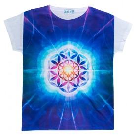 "Damen T-Shirt ""Blume des Lebens"" 65% Baumwolle"