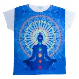 """Damen T-Shirt """"Chakra Buddha"""" 65% Baumwolle"""