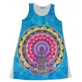 """Damen Dress """"Lotus Buddha"""" 65% Baumwolle"""