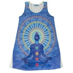 """Damen Dress """"Chakra Buddha"""" 65% Baumwolle"""