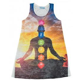 "Damen Dress ""Budddha-Blume des Lebens"" 65% Baumwolle"