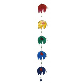 "Suncatcher ""5 Elefanten"" Resin mehrfarbig 8x75cm"