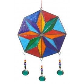 "Suncatcher ""Kompass Rose"" Resin mehrfarbig 15x35cm"