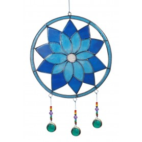 "Suncatcher ""Lotus Chakra"" Resin blau 15x35cm"