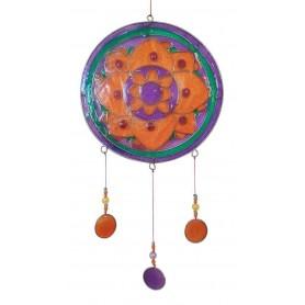 "Suncatcher ""Lotus Mandala"" Resin multicolour 15x35cm"