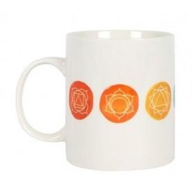 "Kaffee-/ Teetasse ""The aligned Chakra"" Keramik 10xØ8cm"