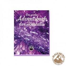 """Adventskalender """"Das große Adventsbuch der Kristalle"""" mit je 12 Roh- und Trommelsteinen"""