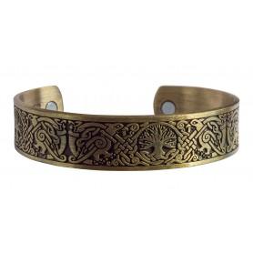 "Magnet-Armband ""Baum des Lebens"" Zink-Legierung antik-goldfarben"