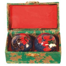 Qi Gong Kugel Drache blau 35mm