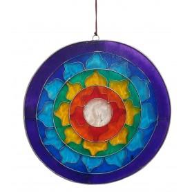"Suncatcher ""Lotus Chakra Rainbow"" Resin multicolour 17cm"