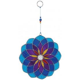 "Suncatcher ""Mandala"" Fiberglas blau 25cm"
