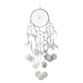 """Traumfänger """"Triple Shell"""" Nylon mit Muscheln und Perlen 16x60cm"""